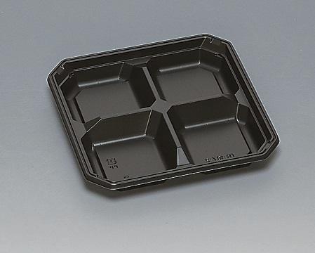 ★送料無料★TR-187-2 本体 黒(600枚/ケース) 使い捨て容器