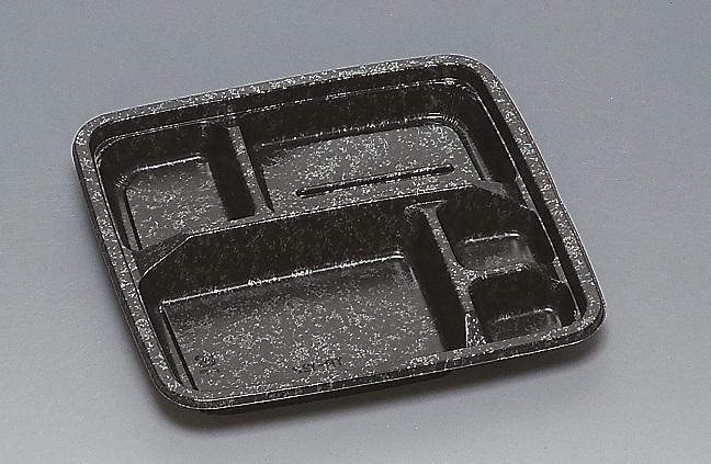 ★送料無料★TR-122 本体 みかげ 黒(600枚/ケース) 使い捨て容器