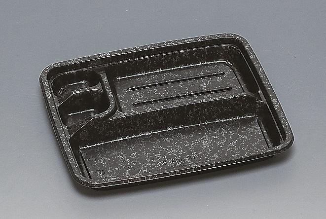 ★送料無料★TR-123-2 本体 みかげ 黒(600枚/ケース) 使い捨て容器