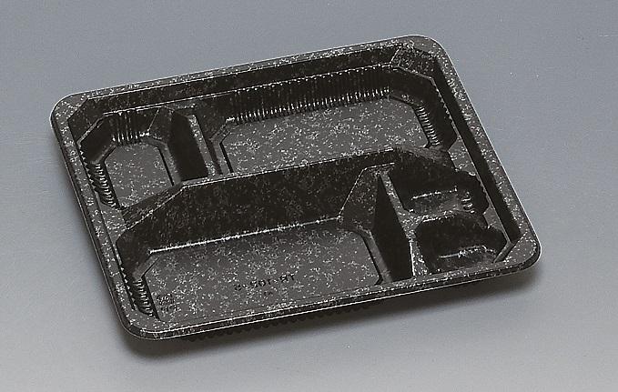 ★送料無料★TR-102-5 本体 みかげ 黒(400枚/ケース) 使い捨て容器