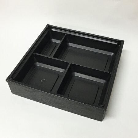 【高級弁当】ワン折重 70D黒焼杉/黒底/共蓋 (400セット)