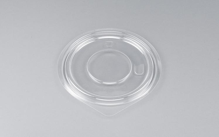 使い捨て容器の蓋 BF-384用 平嵌合蓋U字穴有り (1200枚/ケース)シーピー化成 送料無料 使い捨て容器の蓋 ふた フタ ランチ デリバリー テイクアウト プラスチック容器
