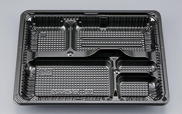 使い捨てお弁当容器 CZ-224BS黒 本体透明蓋セット[400枚入] シーピー化成 使い捨て お弁当箱 弁当容器 業務用 宅配 持ち帰り テイクアウト デリバリー