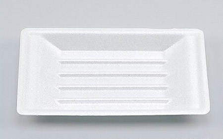 【メーカー直送】【シーピー化成】発泡容器 VK-23 無地 舟皿中 (4800枚/ケース)