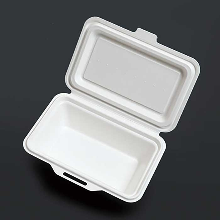 紙製ランチボックス KM-51 ホワイト (600枚/ケース) 使い捨て 紙製 ランチボックス サンドイッチ イベント 電子レンジ対応 耐油 防水 エコ アウトドア