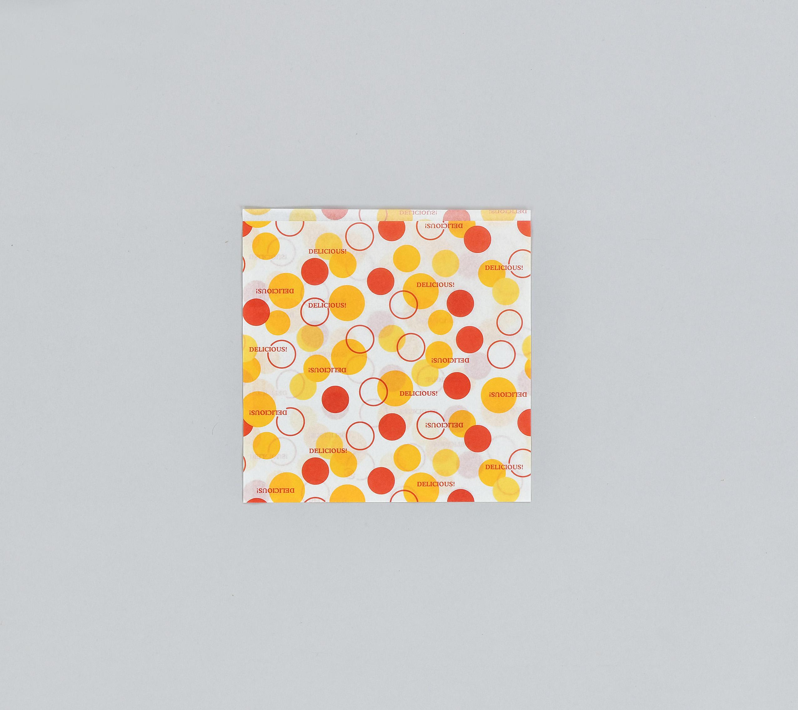 バーガー袋 No.15 バルーン(4000枚入り/ケース)ハンバーガー ドーナツ シュークリーム ワッフル 業務用 使い捨て