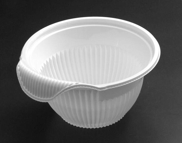 クリーンフォーユー BOWL 本体(M)白 (600個/ケース)《メーカー直送》リスパック 使い捨て サラダ プラスチック容器 惣菜 テイクアウト ボウル 透明容器