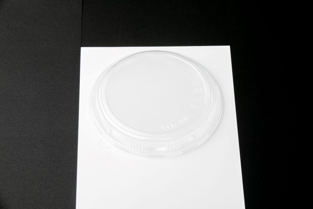 エコ商品 エコウッド容器 FLR-01F 高蓋透明 (蓋のみ600枚入) 159Φ丸型 テイクアウト 高級弁当 デパチカ 仕出し 使い捨て 送料無料