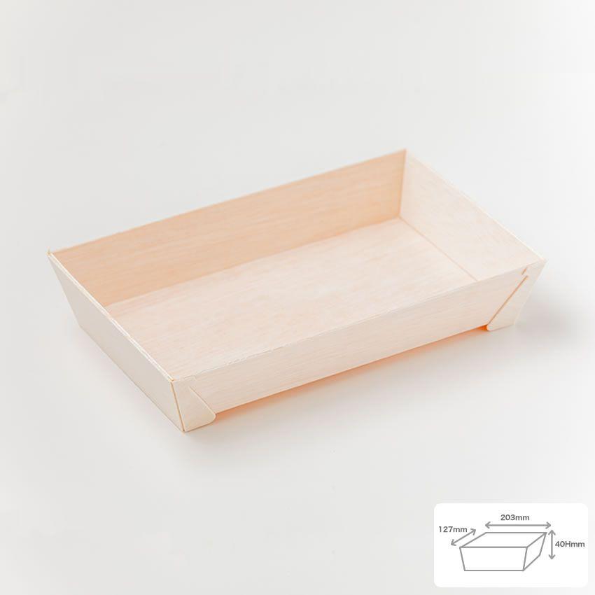 エコ商品 エコウッド容器 FA-415B 本体 (本体のみ600枚入)長角折箱1.5合 テイクアウト 高級弁当 デパチカ 仕出し 使い捨て 環境配慮商品 送料無料
