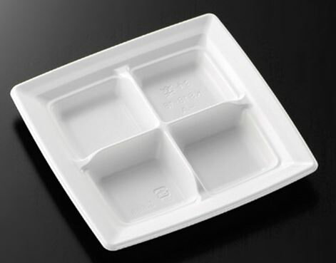 CT沙楽 KS18-18-A W 身(800枚/ケース)使い捨て 皿 容器 簡易食品容器 業務用 送料無料