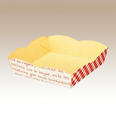 WAKE eトレー フレーズ95角 500枚入り ケーキ パン 焼き菓子用トレー