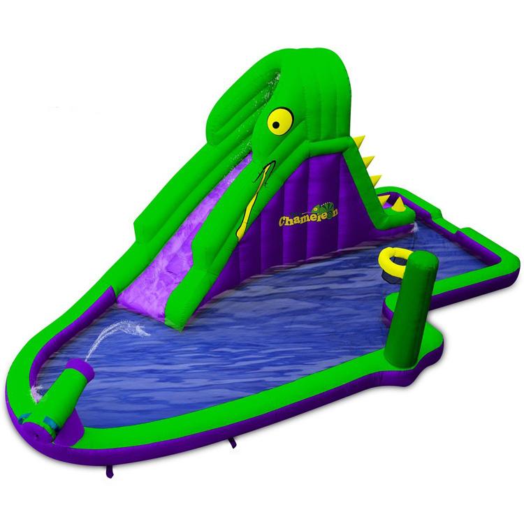 【サマーバーゲン】大型プール 滑り台 カメレオン ウォーターパーク エアー遊具 家庭 施設 Blast Zone /配送区分A