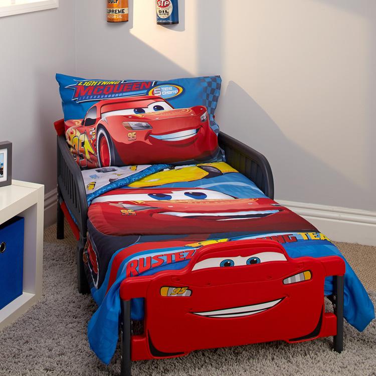 CrownCrafts ディズニー カーズ 子供 寝具 4点 セット トドラーベッディング
