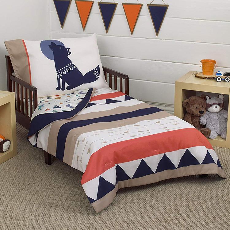 CrownCrafts Carters ディズニー アズテック 子供 寝具 4点 セット トドラーベッディング