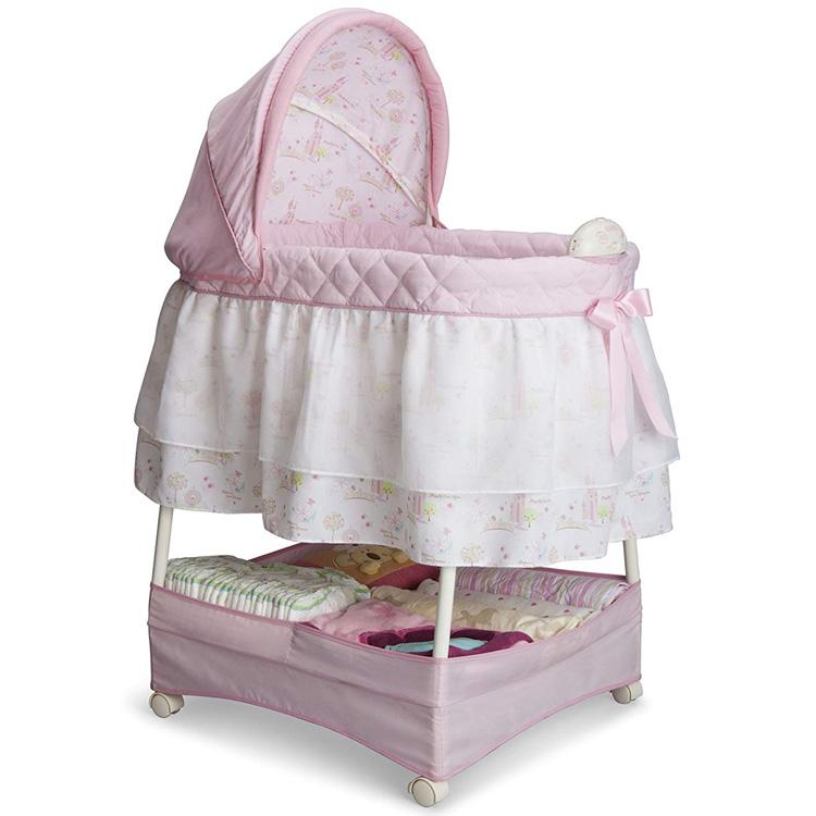 【エントリーで最大28倍】 デルタ ディズニー プリンセス キルティング バシネット ピンク 女の子