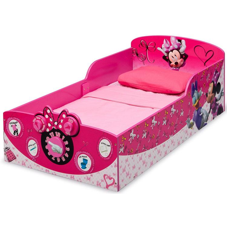 デルタ ディズニー ミニーマウス ウッデン 子供用 ベッド 女の子 1歳半から