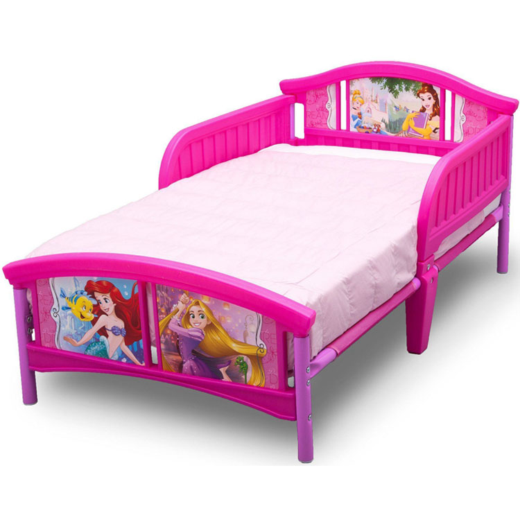 8月18日入荷予約販売/ デルタ ディズニー プリンセス 子供用ベッド 女の子 3-6歳 トドラーサイズ