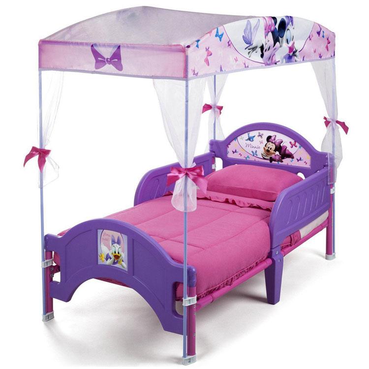 【お買い物マラソンP3倍】ミニーマウス キャノピー付き 子供用 トドラー ベッド 女の子 2歳から デルタ Delta bb87165mn