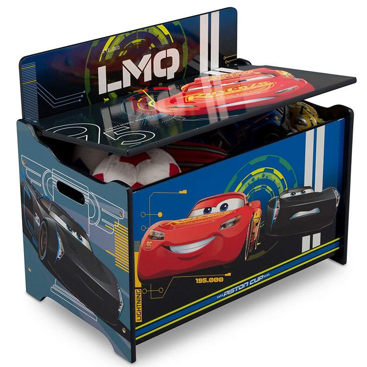 【P2倍・3月21日20時~+クーポン有】ディズニー カーズ デラックス ふた付き おもちゃ箱 トイボックス