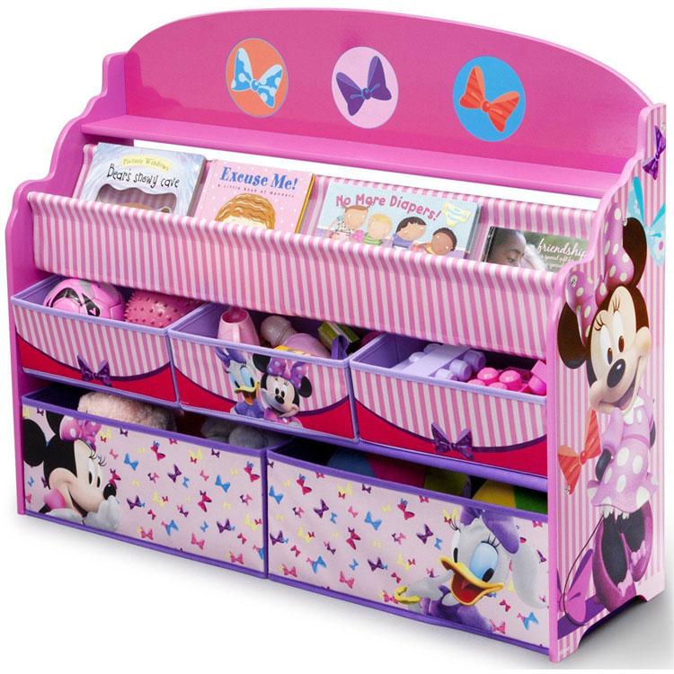 【エントリーで最大ポイント7倍】 デルタ ディズニー ミニーマウス デラックス 本棚 おもちゃ箱 女の子 3-6歳