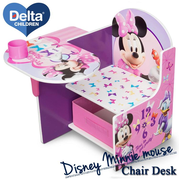 Delta デルタ ディズニー ミニーマウス 一体型 チェアーデスク