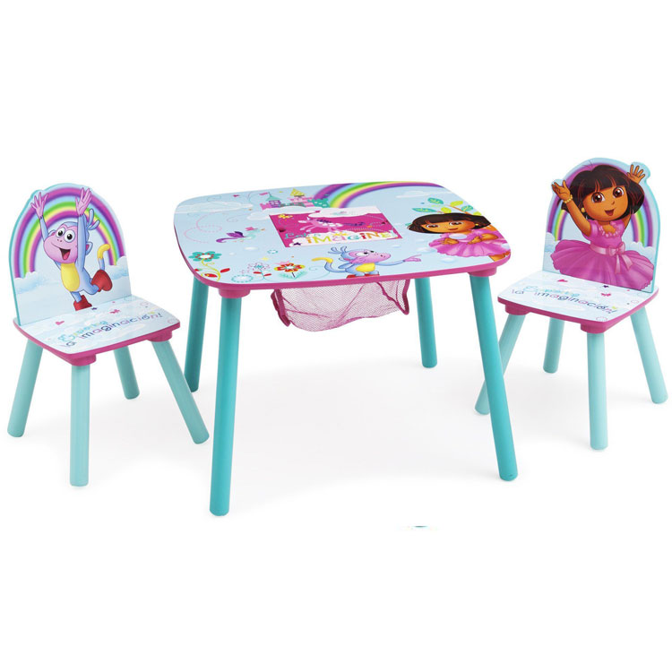 Online ONLY(海外取寄)/ Delta デルタ ドーラ 女の子 収納付き テーブル&チェア セット