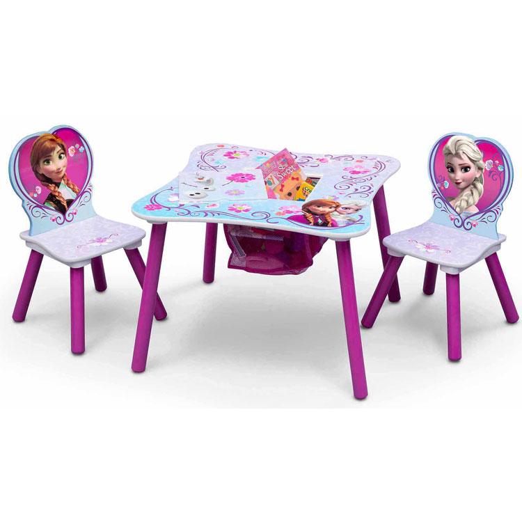 Online ONLY(海外取寄)/ デルタ ディズニー アナと雪の女王 女の子 収納付き テーブル&チェア