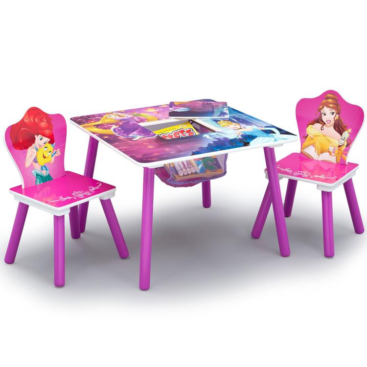 ディズニー プリンセス テーブル&チェア 収納付き 3点セット デルタ delta