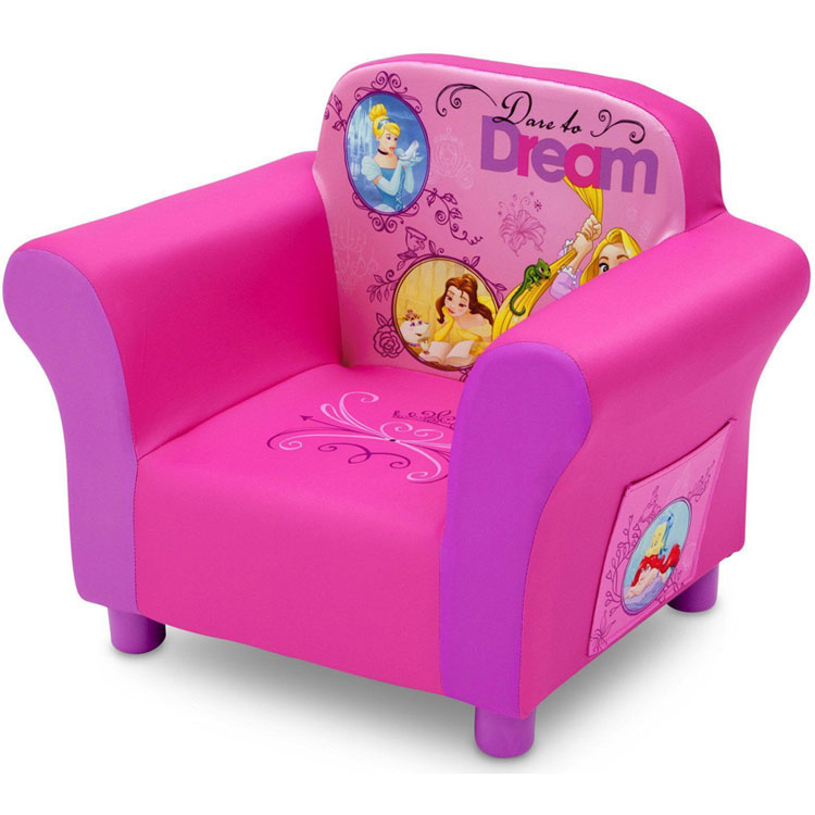 Online ONLY(海外取寄)/ デルタ ディズニー プリンセス アップホルスタード ソファ 女の子 3-6歳