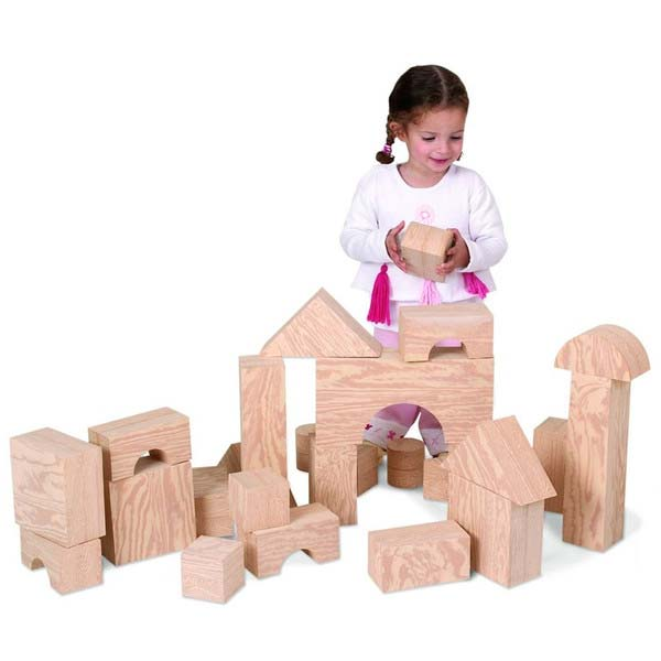 【Springsale】 EduShape ウッドデザイン 大型ジャイアントブロック ビルディングブロック