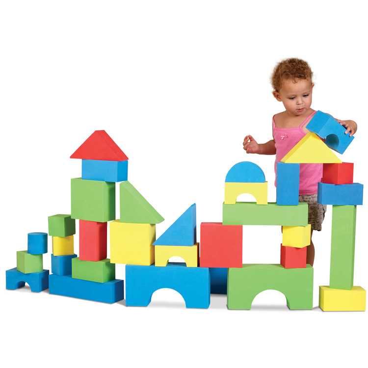 Online ONLY(海外取寄)/ エドシェイプ 大型 ブロック 32個セット おもちゃ カラフル ビッグ ソフト ブロック EduShape 726033