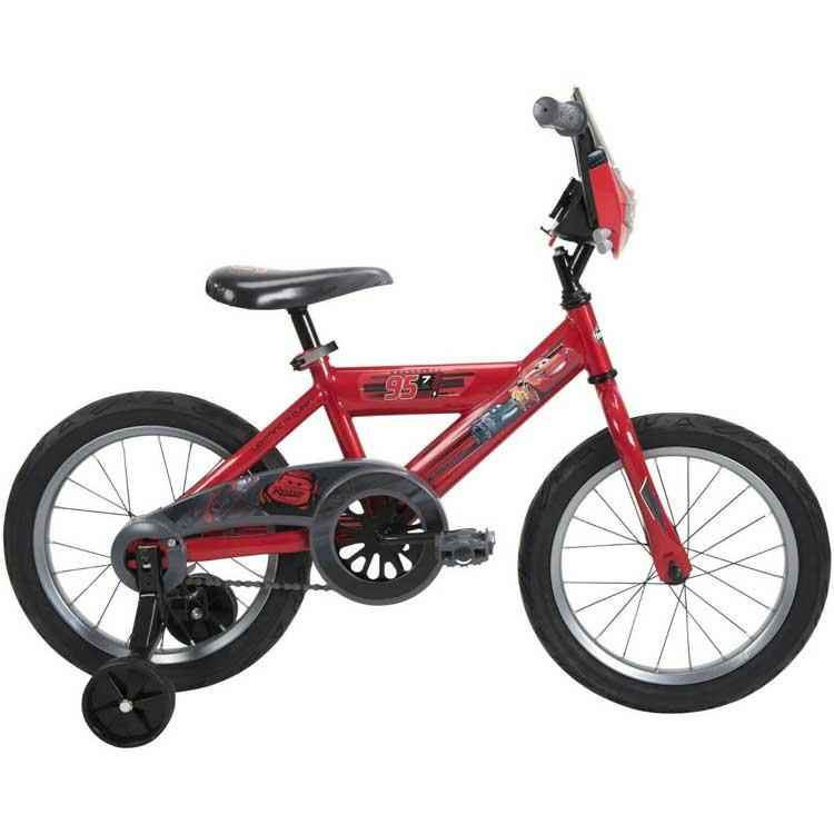子ども用 自転車 16インチ ディズニー ピクサー カーズ マックイーン 駒付き 子供 21789 キャラクター 補助付き 補助輪付き オープニング 大放出セール 特別セール品 補助輪 3月中旬入荷予約販売 Huffy