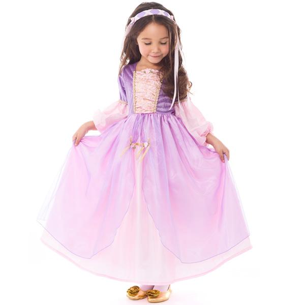 【大決算・割引商品】ハロウィン 衣装 子供 ラプンツェル コスチューム 女の子 100-125cm プリンセス ドレス