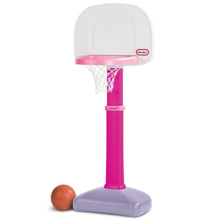 リトルタイクス バスケットゴール セット 1歳半から ピンク 621383