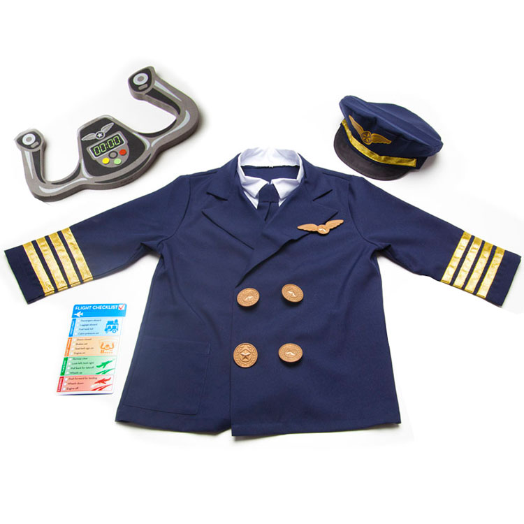 【P3倍・スーパーセール】パイロット 飛行士 ハロウィン コスチューム 3歳 4歳 5歳 6歳 小物付き メリッサ&ダグ 衣装 子供