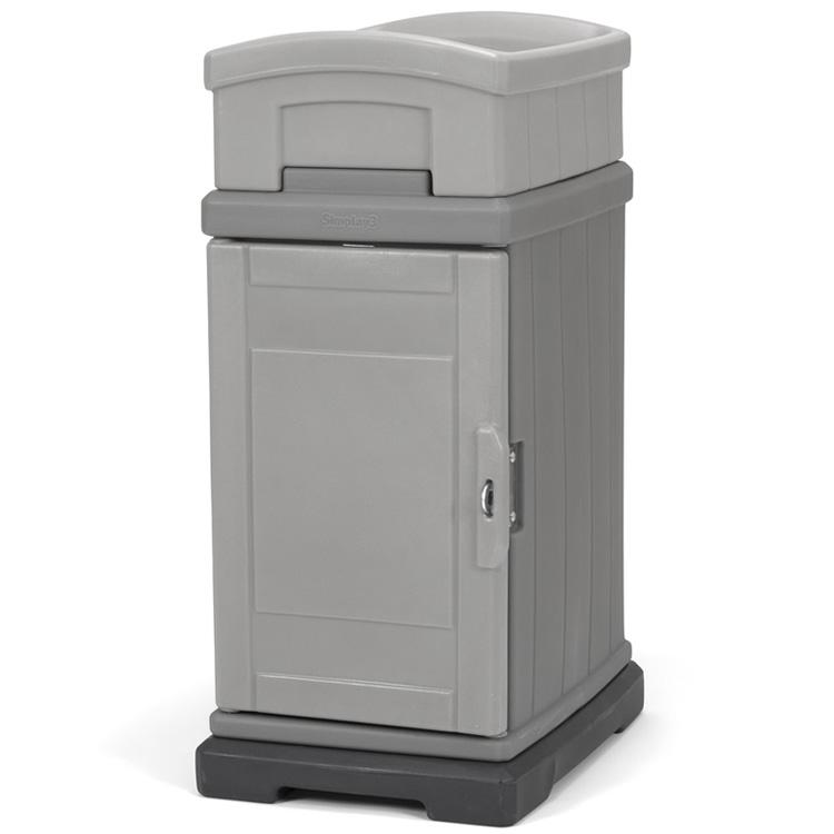 Online ONLY(海外取寄)/ 宅配BOX 一戸建て用 大容量 宅配ボックス プランター付き デリバリーボックス グレー simplay3