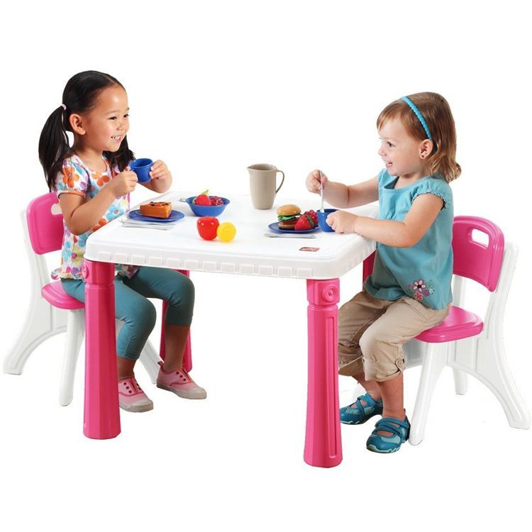 【P5倍・4月23日20時~+クーポン有】STEP2 キッチン テーブル&チェアー セット ピンク 719600