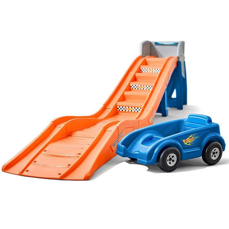 Online ONLY(海外取寄)/ 乗用玩具 おもちゃ 乗り物 車 ローラーコースター ホットウィール レール付き 遊具 STEP2 8628 /配送区分C