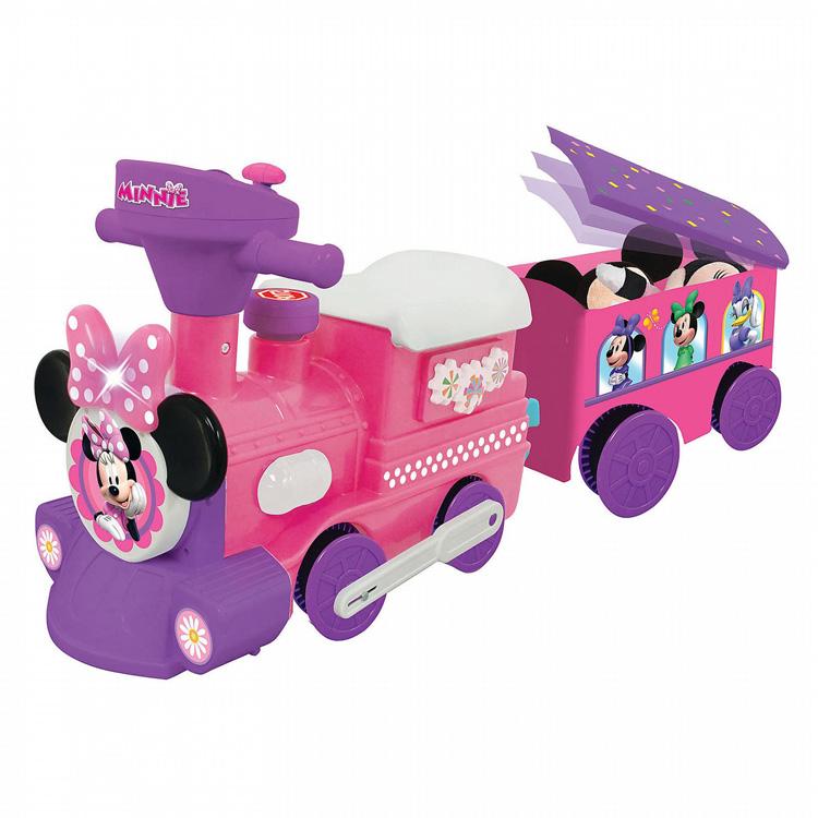乗物玩具 ディズニー ミニーマウス 電動 足けり 乗用