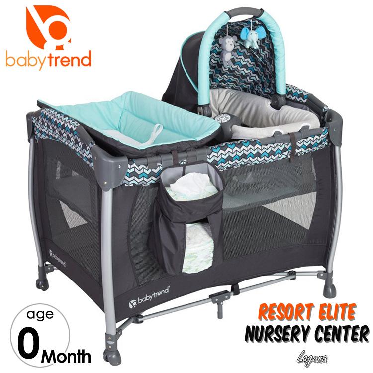 Online ONLY(海外取寄)/ Baby Trend ベビートレンド リゾート エリート ナーサリー センター ラグナ ブルー