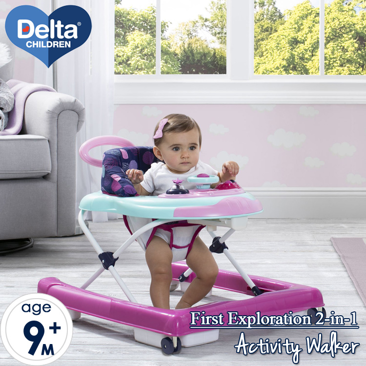 【スーパーSALE割引商品】Delta 歩行器 スペースシップ ベビーウォーカー リフトオフ 押し車
