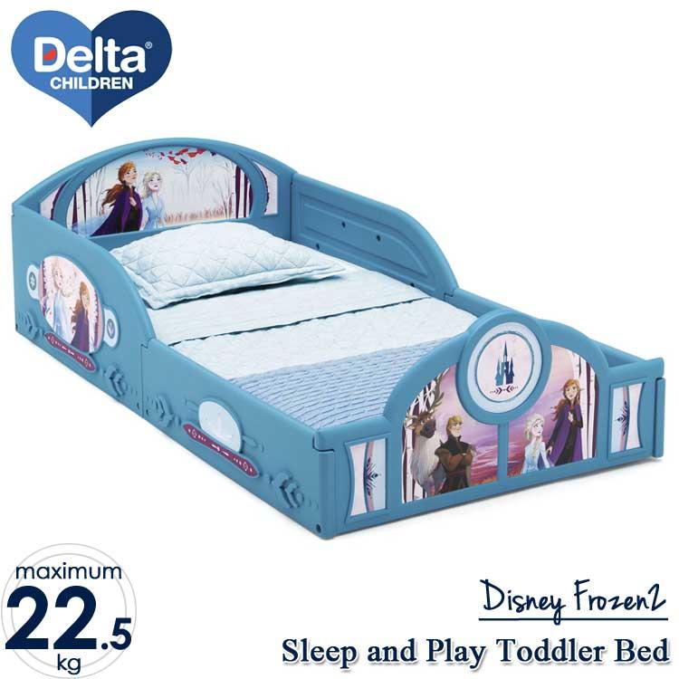 【割引クーポン有】6月下旬入荷予約販売/ デルタ 子供用ベッド プレイスペース ディズニー アナと雪の女王 2 子ども用 トドラーベッド キッズ 幼児 子供部屋 DELTA