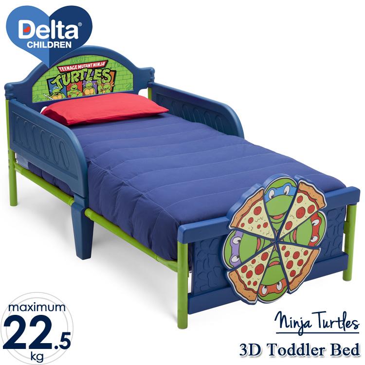 Online ONLY(海外取寄)/ デルタ ニンジャ タートルズ 3D 子供用ベッド 男の子 2歳から