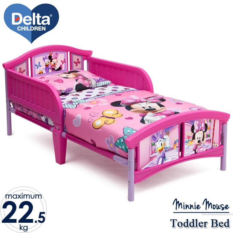 【割引クーポン有】7月上旬入荷予約販売/ デルタ ディズニー ミニーマウス トドラーベッド 子供 女の子 3-6歳 Delta
