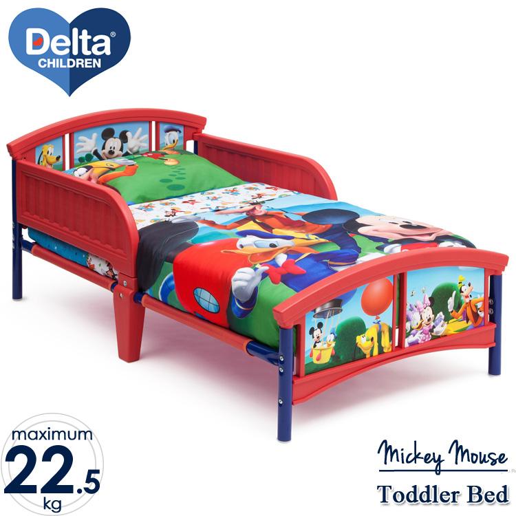 【割引クーポン有】6月下旬入荷予約販売/ ディズニー ミッキーマウス トドラーベッド 子供 3-6歳 Delta デルタ 子供用ベッド 子供部屋
