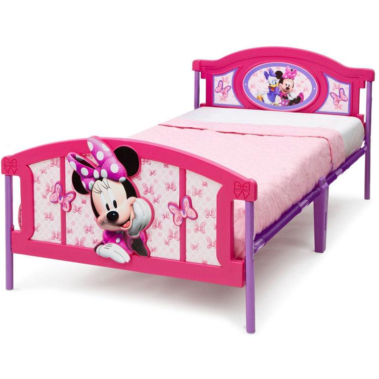 【ママ割エントリーでP5】 8月18日入荷予約販売/ Delta ディズニー ミニーマウス 3D ツインベッド 3歳から /配送区分A