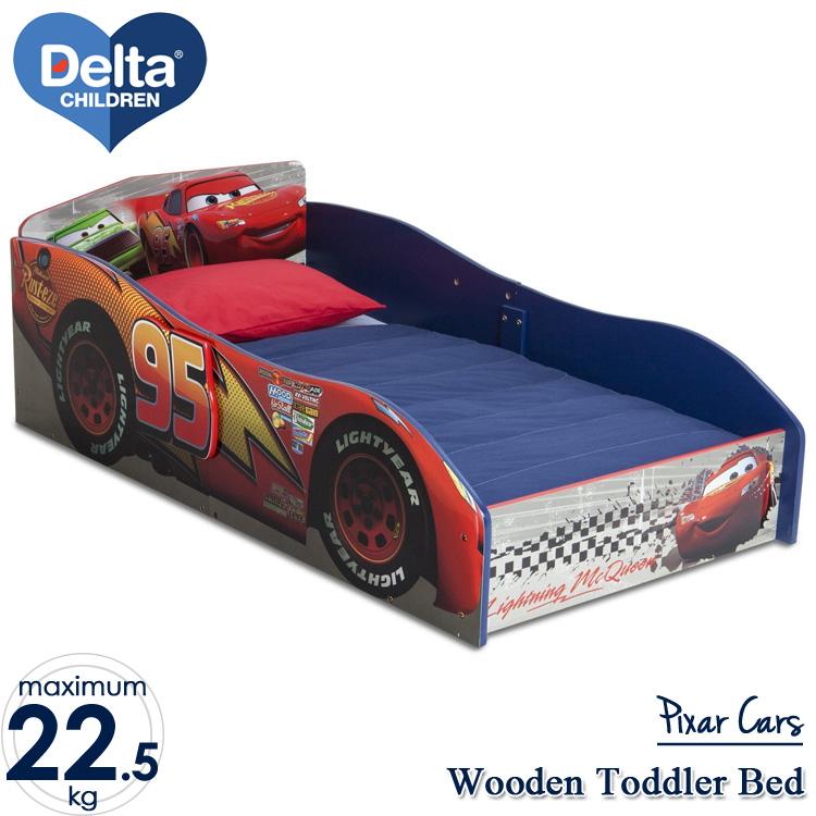 【割引クーポン有】7月上旬入荷予約販売/ デルタ ディズニー ピクサー カーズ ウッデン ベッド 木製 子供用 男の子 1歳半から Delta