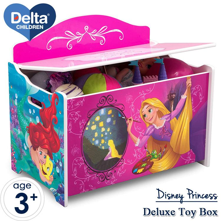 【割引クーポン有】Delta ディズニー プリンセス デラックス ふた付き おもちゃ箱 トイボックス デルタ delta