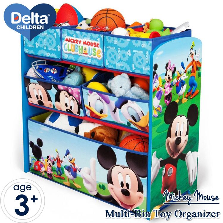 【P2倍・12月26日12時まで】デルタ ディズニー ミッキーマウス マルチ おもちゃ箱 子供 3-6歳