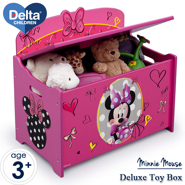 Delta デルタ ディズニー ミニーマウス デラックス おもちゃ箱 女の子 3-8歳
